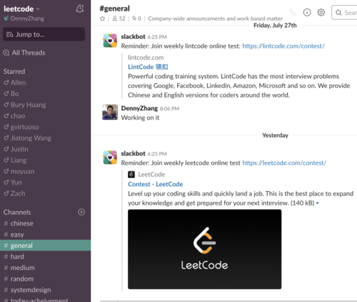 Join Our Slack Group – Prepare For Coder Interview – Denny